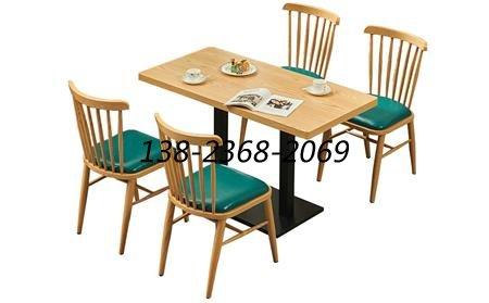 实木快餐厅桌椅