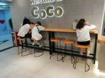 <b>奶茶咖啡厅桌椅,coco仿星巴克款式家具案例!</b>